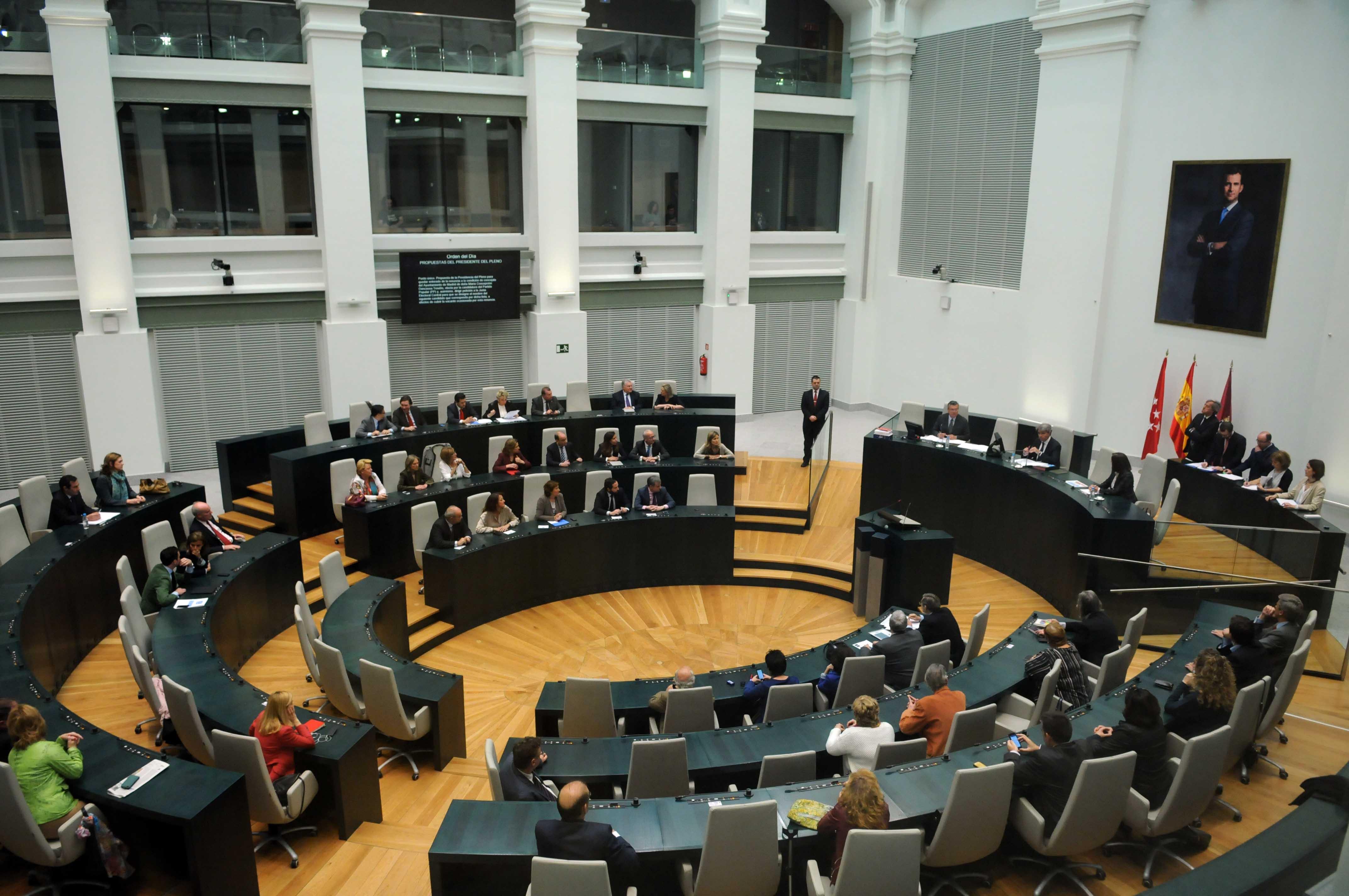 Salón de Plenos del Ayto. de Madrid, en el Palacio de Cibeles / www.madrid.es